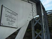 Detalle da ponte de ferro