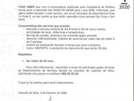 Bando 1/2020: Casas do Maior Nova Ordenanza (Vide e Paradela)